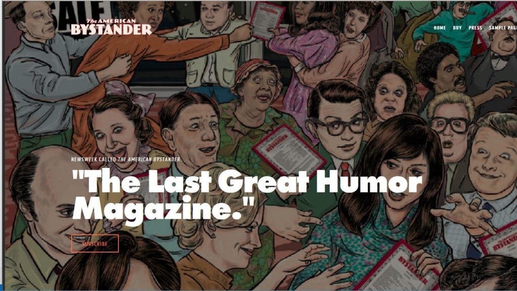 subscribe to the american bystander, print humor magazine